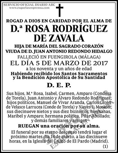 Rosa Rodríguez de Zavala